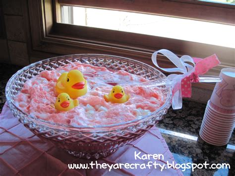 Pink Baby Shower Punch Recipe by They Are Crafty Baby Shower