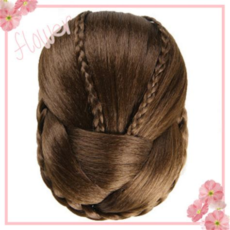 2015 1pc plate hair donut 1pc 3 colors synthetic chignons hair bun