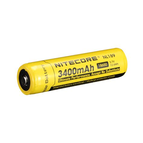 Nitecore 18650 Baterai Li Ion Low Temp High Perform 2900mah Nl1829lthp nitecore 18650 3 7 v 3400 mah li ion protected battery