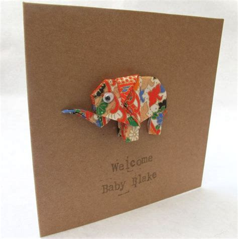 Origami Card Birthday - new baby happy birthday origami elephant card baby boy
