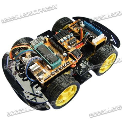 4wd smart car 4wd smart car chassis 4wd with code disc tachometer l298d