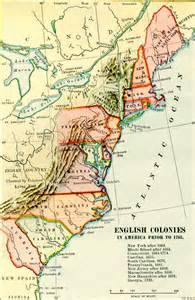 colony map the colonies before 1763 archiving early america