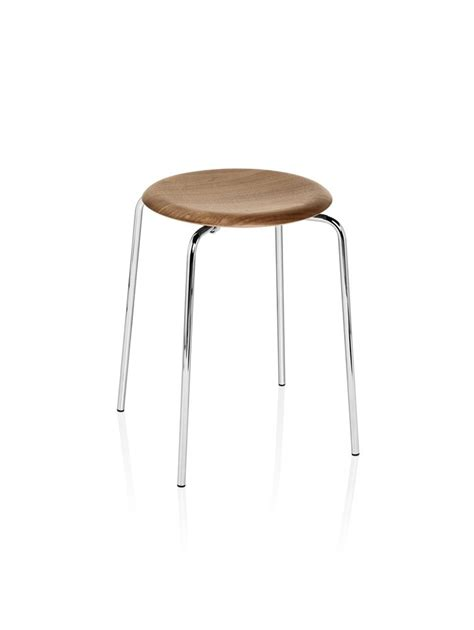 Arne Jacobsen Dot Stool by Dot Stool Fritz Hansen Deplain