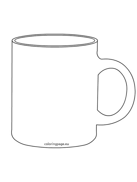 Coffee Mug Template Mug Clipart Template Pencil And In Color Mug Clipart Template