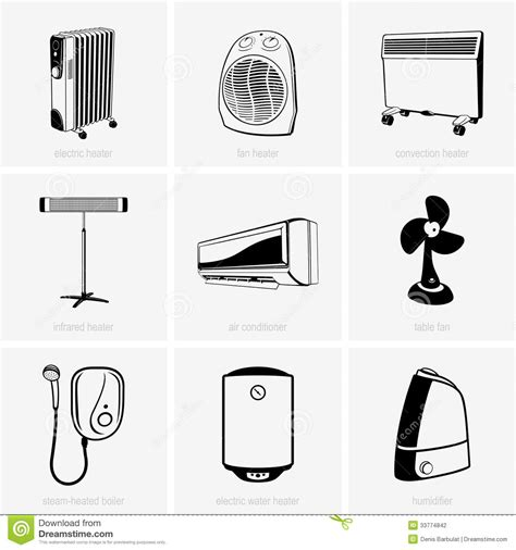 Comfort Heater Heating And Air Conditioning Stock Vector Image 33774842