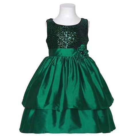 bonnie jean green sequin sleeveless christmas dress little