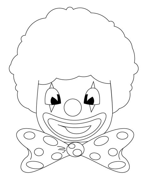 free clown juggling coloring pages