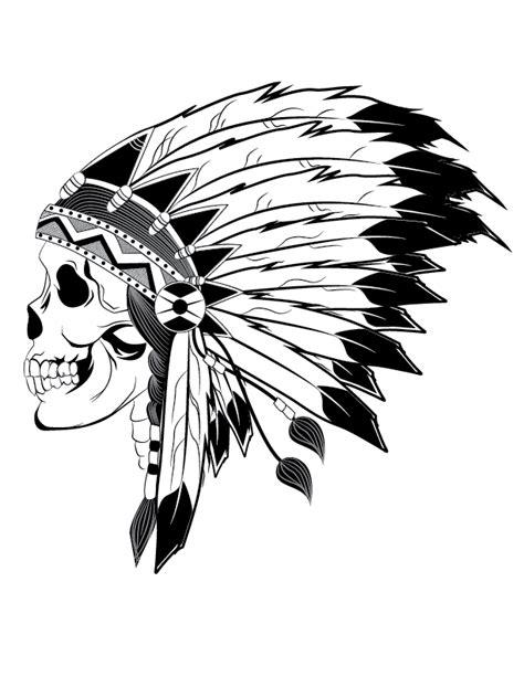 indian headdress tattoo designs indian chief skull illustration skull