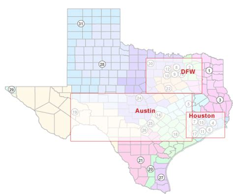texas senate districts map texas politics texas state senate districts 2003 2012