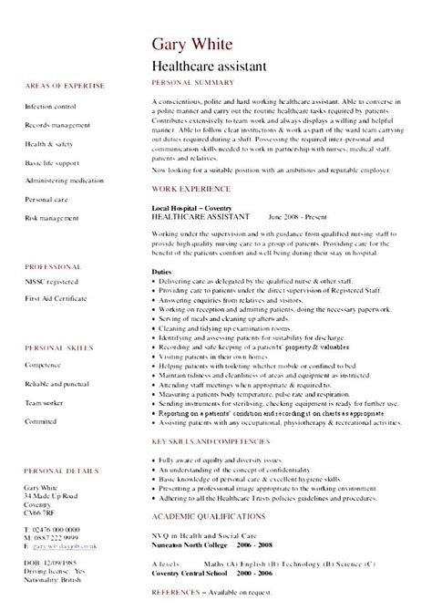 healthcare assistants resume sales assistant lewesmr