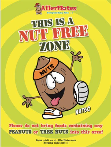 "AllerMates Nut Free Zone  Poster sz 18 x 24"""