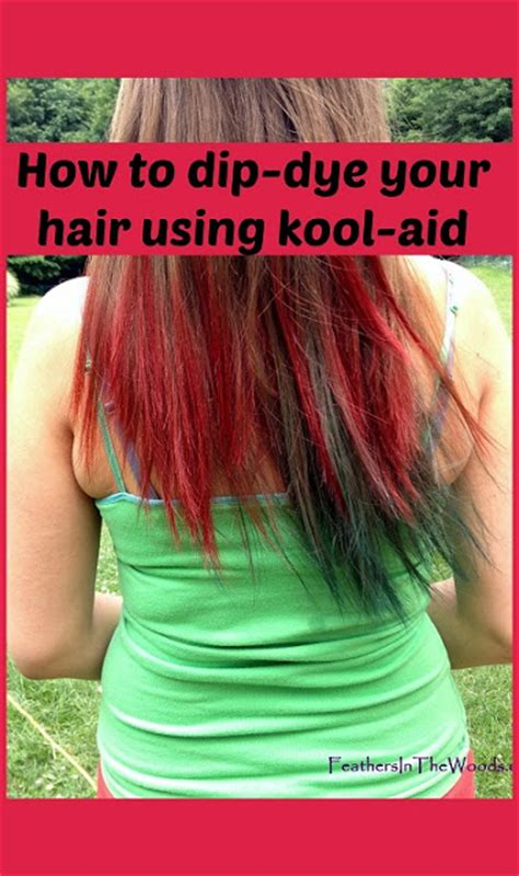 kool aid hair dye colors dip dyed kool aid hair feathers in the woods