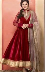Designer anarkali suits for girls for wedding red