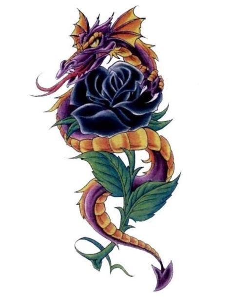 dragon rose tattoo 25 gorgeous black tattoos ideas on