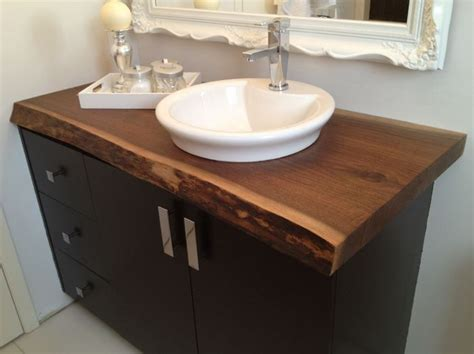 wood bathroom countertops 20 ideas for installing a wooden countertop at your home patterns hub