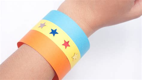 How To Make A Paper Wristband - how to make a origami wristband or bracelet versi on the