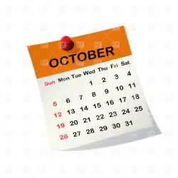 2014 october calendar clipart