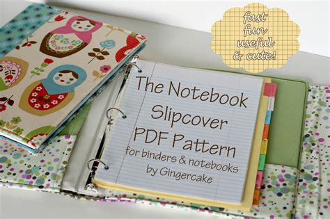 pattern for notebook cover notebook binder cover sewing pattern a pdf pattern cover