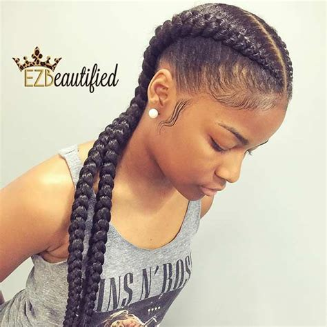 2 braids in front hair down hairstyle long natural hair 25 best ideas about big cornrows on pinterest black