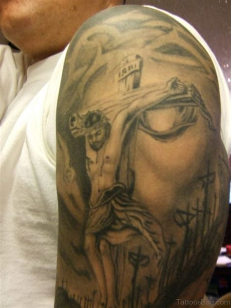 jesus carrying the cross tattoos 70 best shoulder tattoos