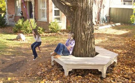how to build bench around tree tree bench lead