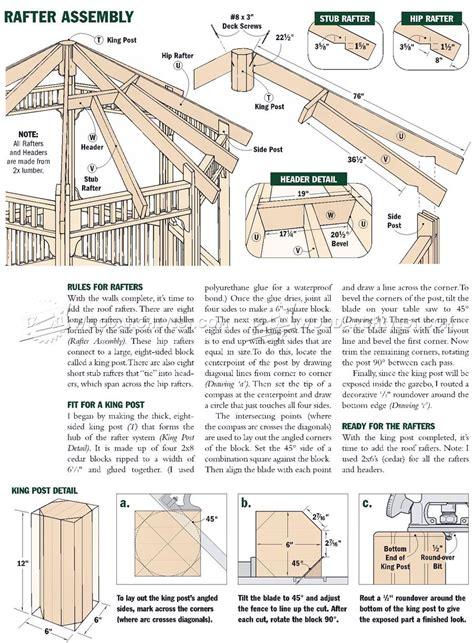 gazebo plans free garden gazebo plans woodarchivist