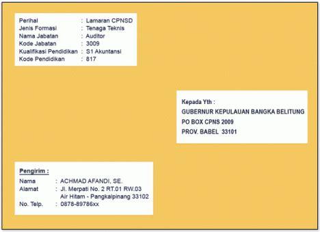 Cara Menulis Di Map Lamaran Kerja by Contoh Cara Menulis Lop Lamaran Radio Lombok