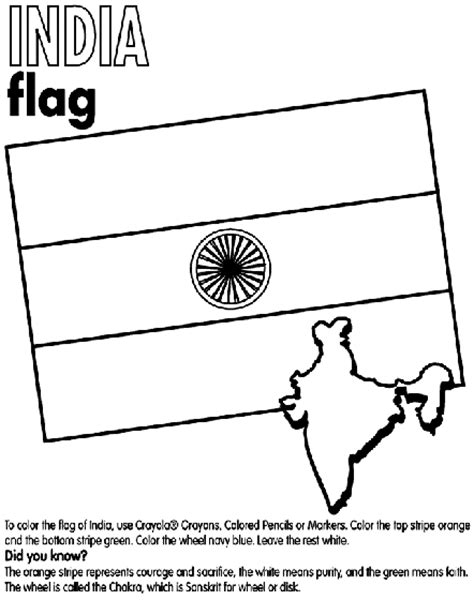 coloring pages india flag india coloring page crayola com