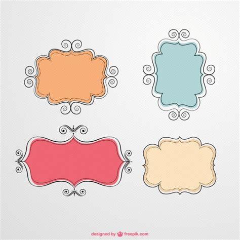 imagenes en vectores para illustrator gratis conjunto de marcos caligr 225 ficos descargar vectores gratis