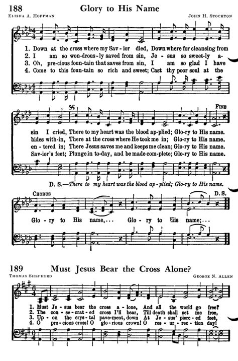 Favorite Hymns of Praise 188. Down at the cross where my