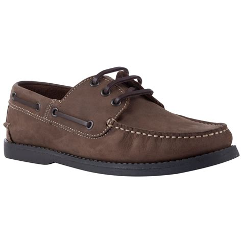 lewis leather boat shoes in brown for lyst