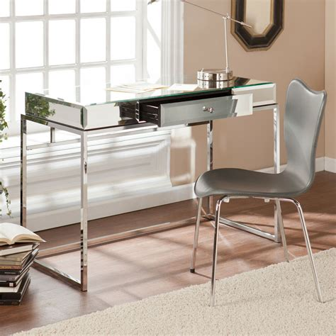 Mirrored Vanity Desk by Regency Bathroom Vanity Makeup Mirrored Chrome