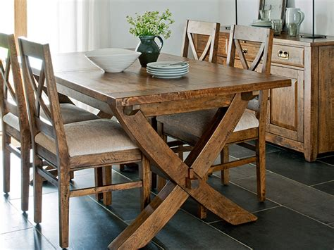 mango wood dining table and chairs x leg extending ding table and 6x dining chairs from the