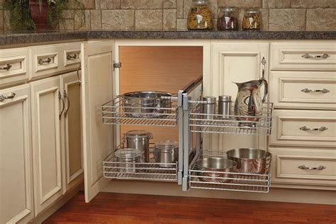 rev a shelf blind corner cabinet system blind corner cabinet slides all the way out for easy