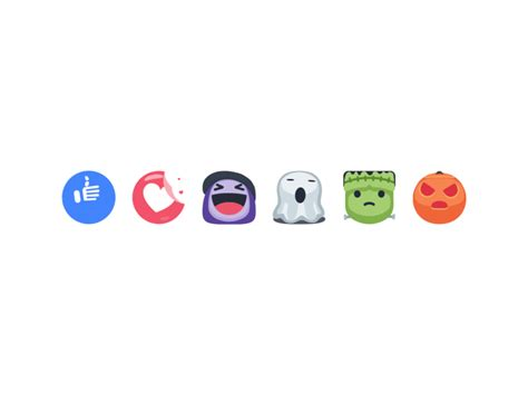 fb reacts halloween reactions by brian w dribbble