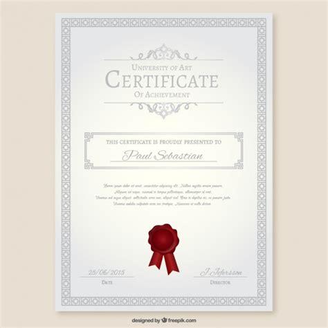 university certificate vector free download