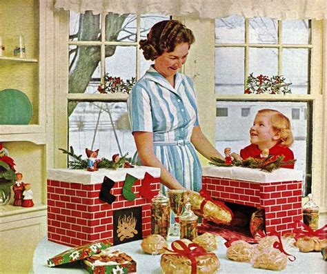 christmas fireplace 1960s and fireplaces on pinterest