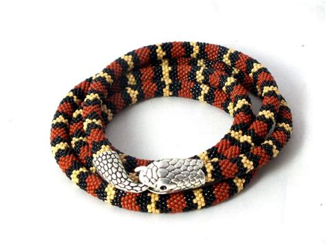 coral snake pattern 216 best beaded snakes and ropes images on pinterest