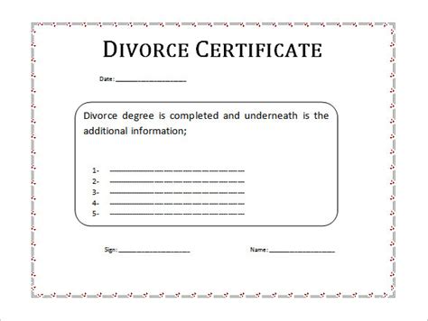 separation certificate template divorce papers etame mibawa co