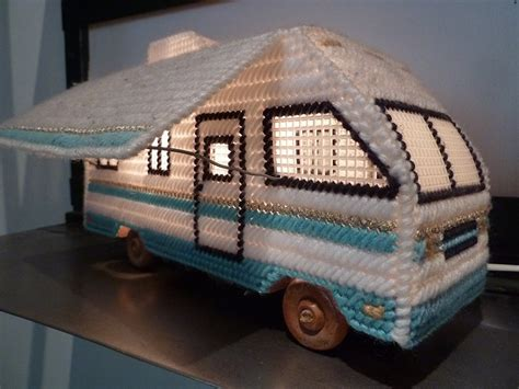 Plastic Canvas Needlepoint RV Lamp   Make: