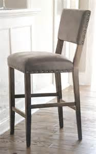 Upholstery Fabric Contemporary New Threshold Bar Height 29 Quot Stool Patina Gray Finish Faux