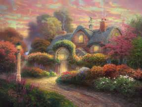 rosebud cottage limited edition the kinkade