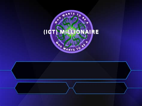 Resource Building Mark James Hardisty Who Wants To Be A Millionaire Template With