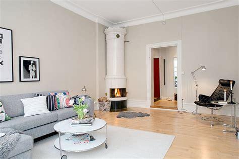 Scandinavian Bookcase Scandinavian Apartment With Cream Walls 2 Modern Home