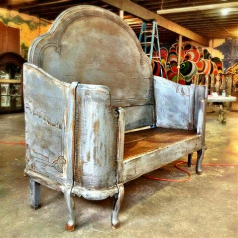 benches made from old beds cool antique furniture this is a bench made out of a
