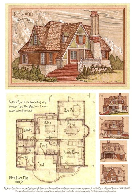 House 301 Storybook Cottage By Built4ever On Deviantart Storybook Cottage House Plans