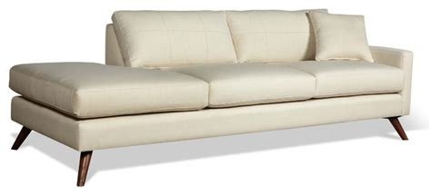 one arm sofa chaise dane 94 quot one arm sofa with chaise modern sofas los