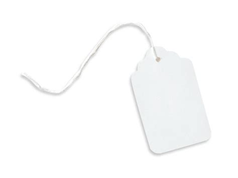 Gift Card Resale - large white resale gift tags cotton strung 1 3 4x2 7 8