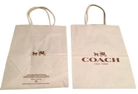 3 In 1 New Coach Shoper Luxury Bag 8001 coach creme white 3 new paper shopping bags tradesy