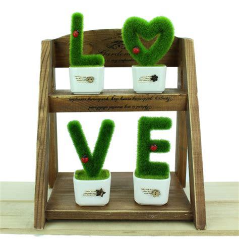 lifestyle cafe alphabet letters for unusual home decor decorative number artificial grass plant home decor 0 9